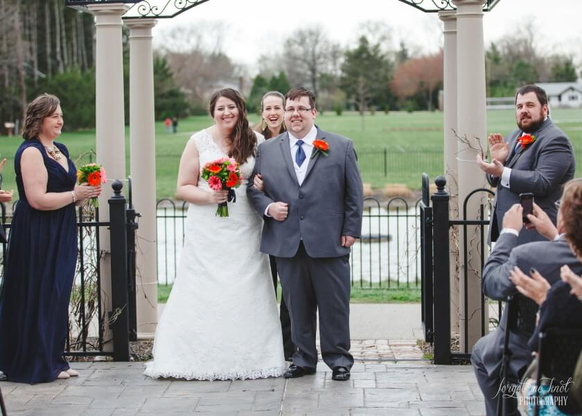 formal announcement of couple at wedding ceremony