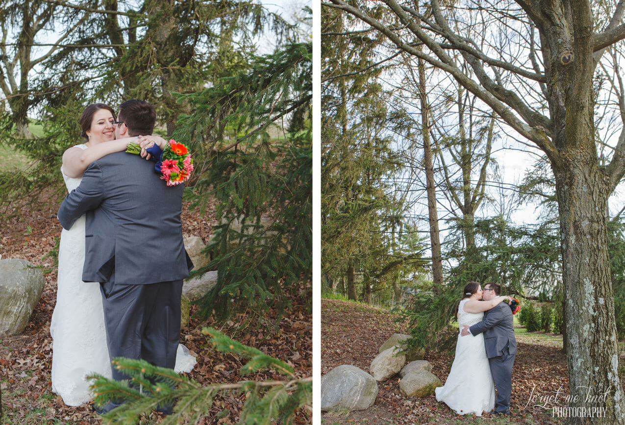 wide photo of married couple at Amelita Mirolo Barn