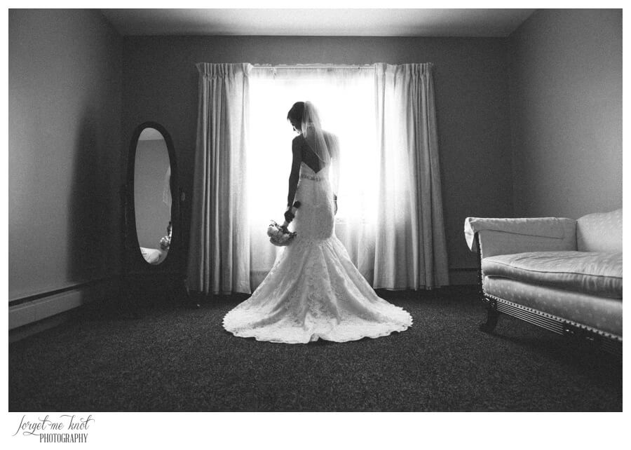 Nationwide Hotel and Conference Center Wedding Photos Lewis Center, OH Photographer bride dress details mirror