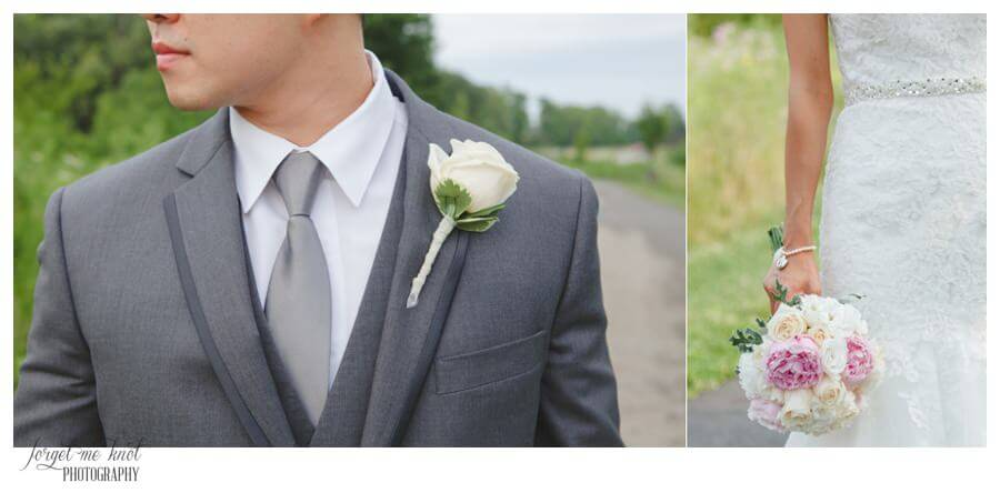Nationwide Hotel and Conference Center Wedding Photos Lewis Center, OH Photographer highbanks wedding flowers boutonnière bride groom