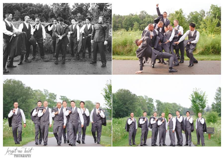 Nationwide Hotel and Conference Center Wedding Photos Lewis Center, OH Photographer groom groomsmen highbanks