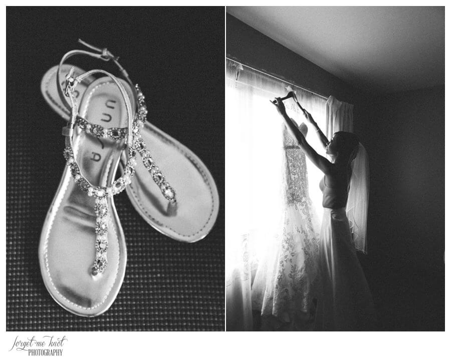 Nationwide Hotel and Conference Center Wedding Photos Lewis Center, OH Photographer wedding dress shoes