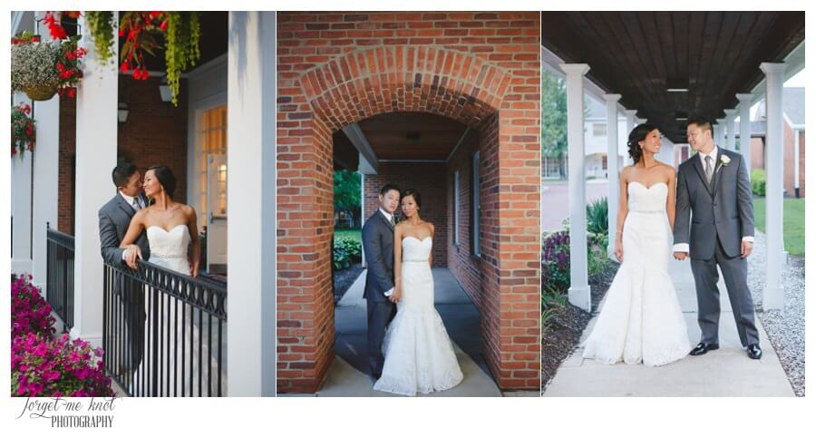 Nationwide Hotel and Conference Center Wedding Photos Lewis Center, OH Photographer wedding bride groom portraits brick flowers