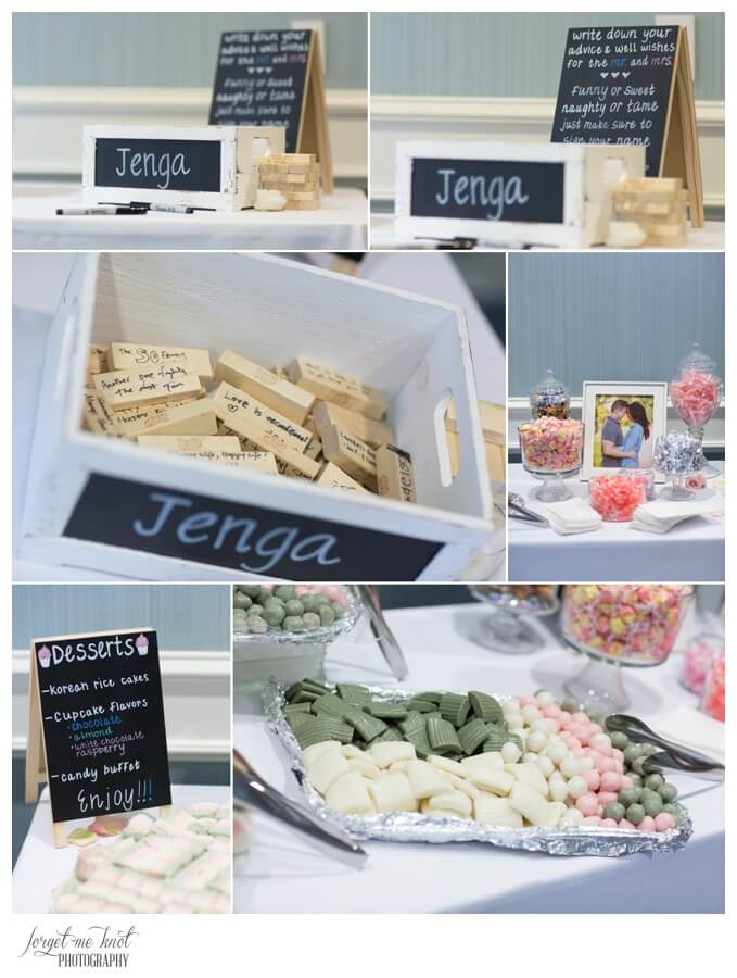 Nationwide Hotel and Conference Center Wedding Photos Lewis Center, OH Photographer wedding details jenga desserts