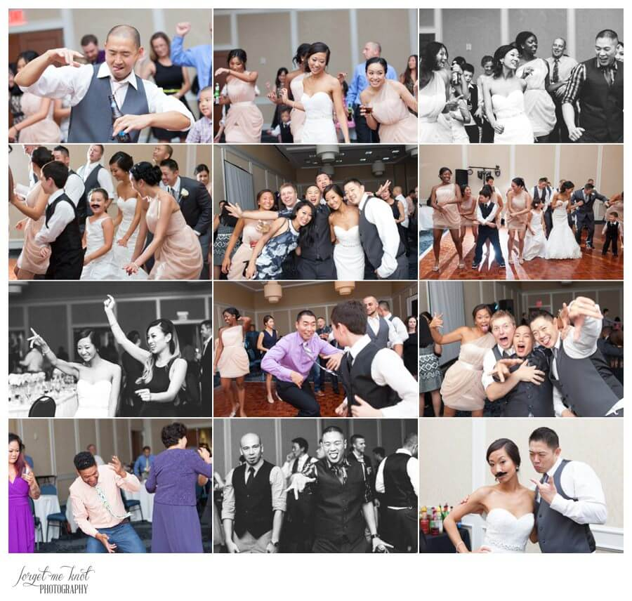 Nationwide Hotel and Conference Center Wedding Photos Lewis Center, OH Photographer wedding party candids bride groom guests party dancing