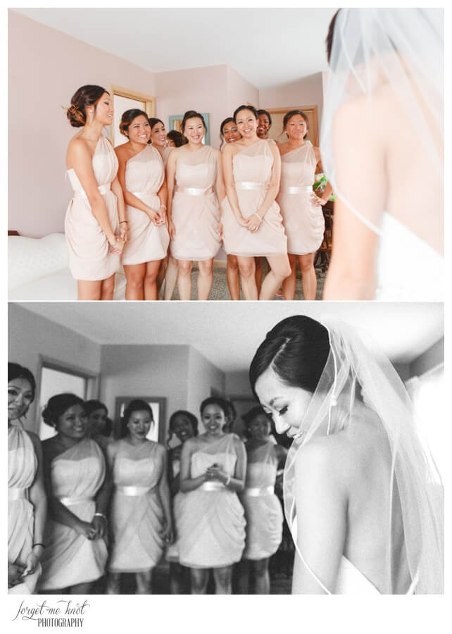 Nationwide Hotel and Conference Center Wedding Photos Lewis Center, OH Photographer bride bridesmaids first look