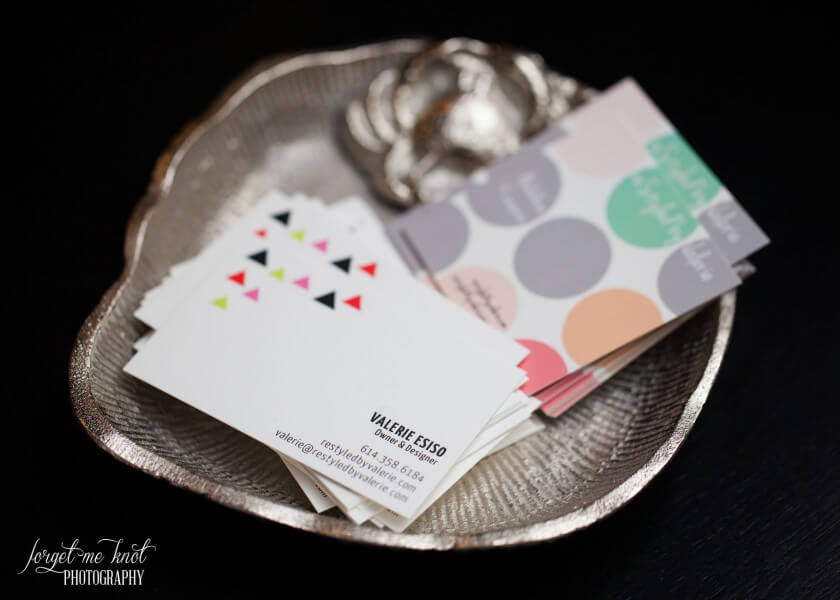 restyled by valerie business cards