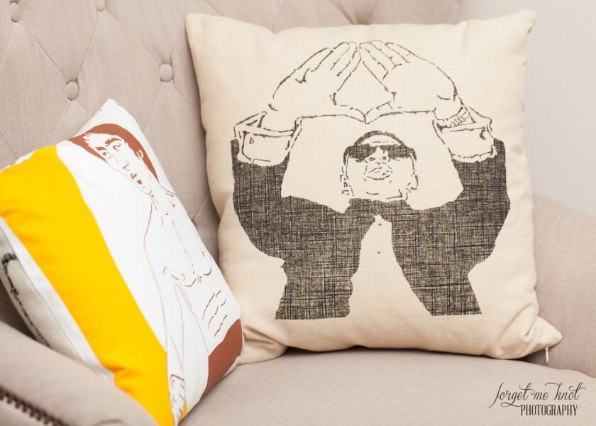 custom Jay-Z pillowcase restyled by valerie columbus ohio event photographer