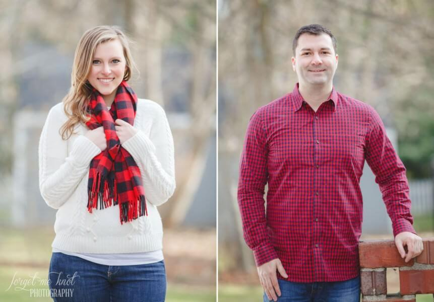 engaged couples head shots