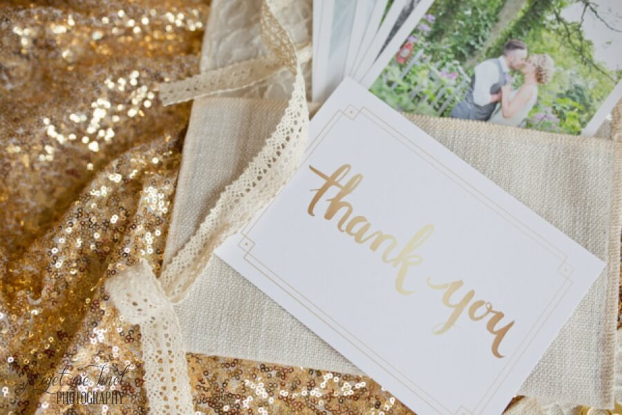 Columbus Ohio Wedding Photographer packaging thank you note
