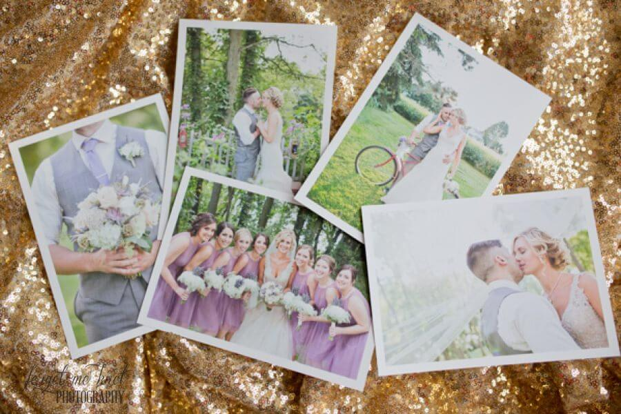 columbus ohio wedding photographer packaging with deep matte prints