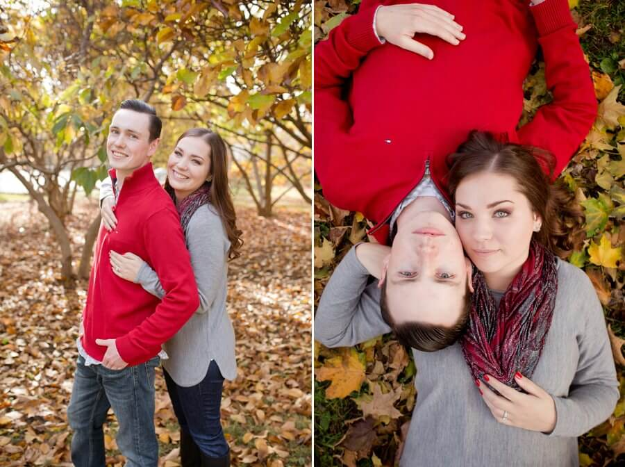 engagement photos of couple at goodale park