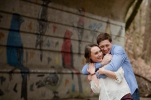 Glen Echo and Whetstone Park of Roses Engagement | Paul and Annie
