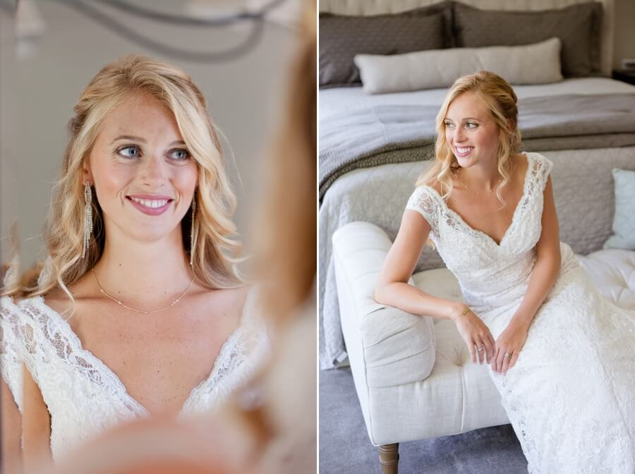 bride getting ready for wedding day