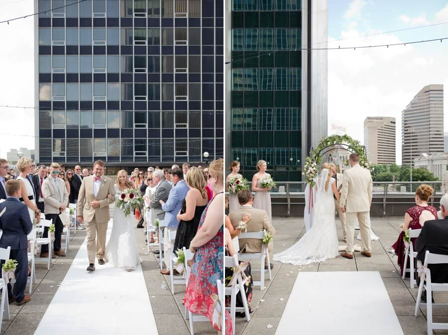 rooftop ceremony at the renaissance downtown columbus ohio