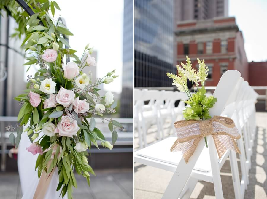 rooftop ceremony details at the renaissance columbus ohio
