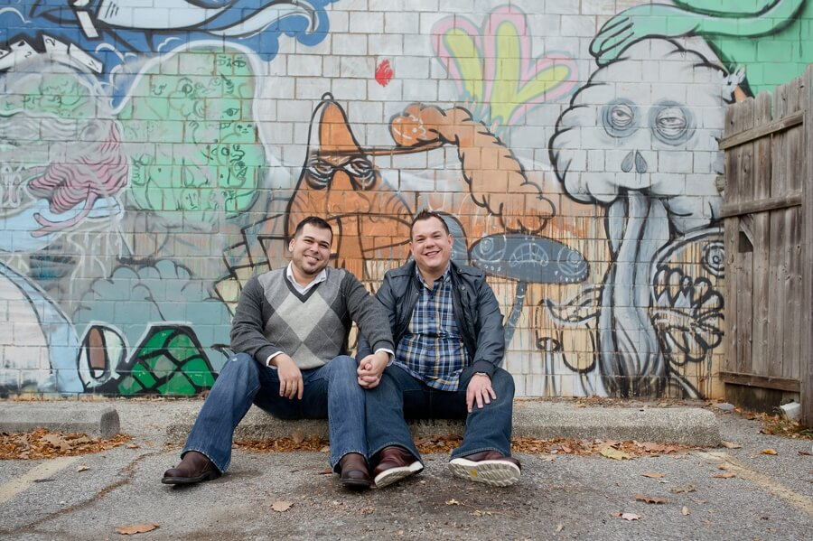 smiling grooms in short north Columbus Ohio