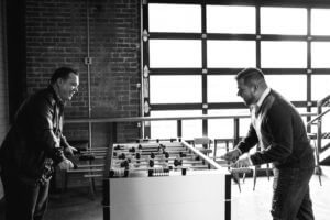 Pins Mechanical Company Engagement | Ben and Topher
