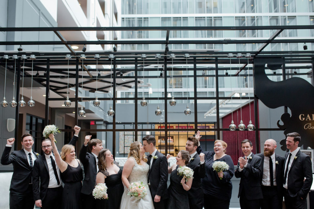 hilton columbus wedding pictures of bridal party