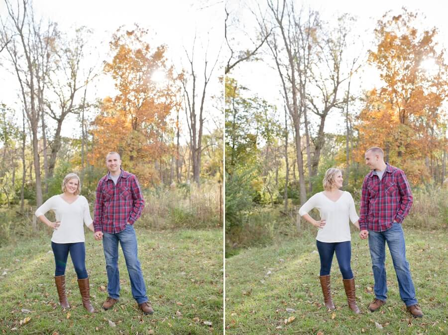 columbus ohio farm engagement photos