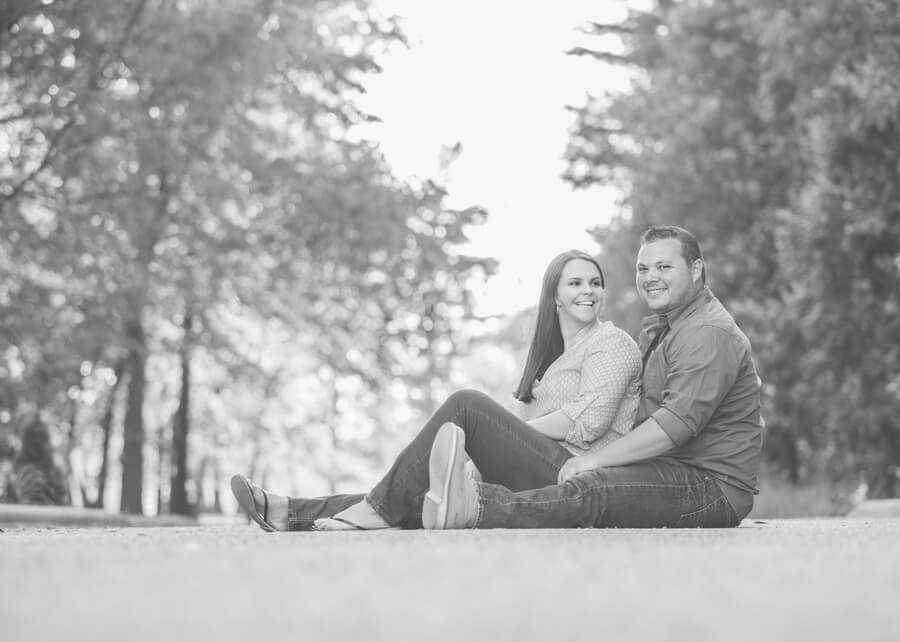 engaged couple at Irongate Equestrian Center