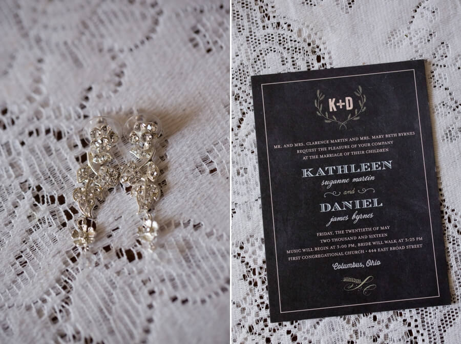 lace and wedding invitation
