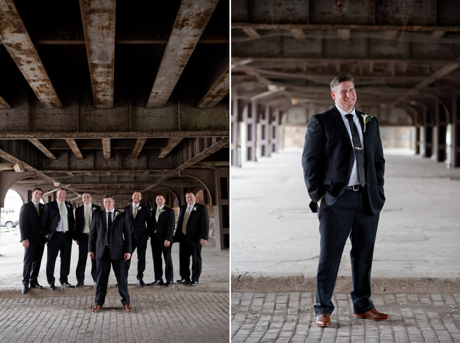 groom and groomsmen in columbus, ohio