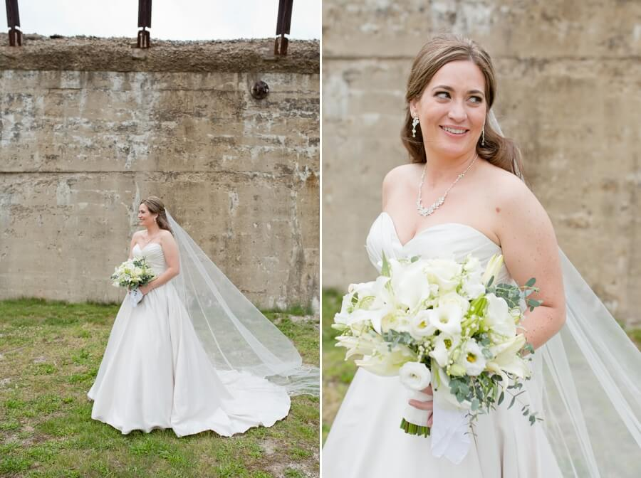 bride smiling in columbus, ohio