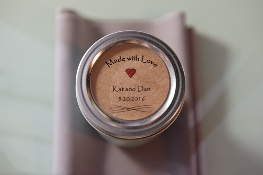 wedding favor candle