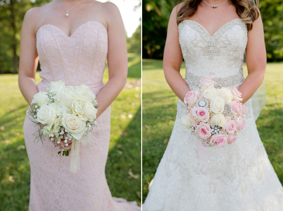 bride and bridemaid bouquets