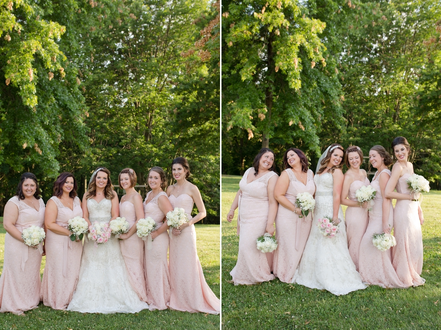 bride and bridesmaids at grand vue park