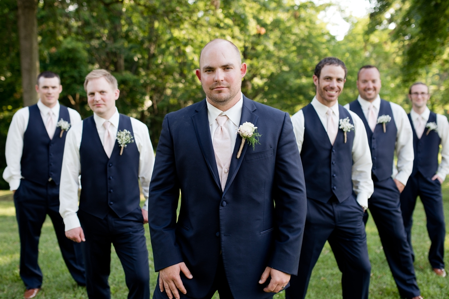 groom and groomsmen at grand vue park