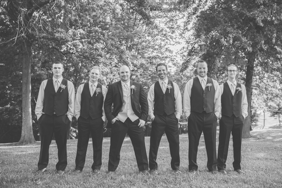 groom and groomsmen at grand vue park west virginia