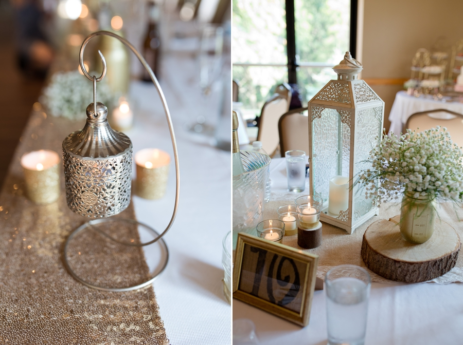 wedding reception details at grand vue park wedding