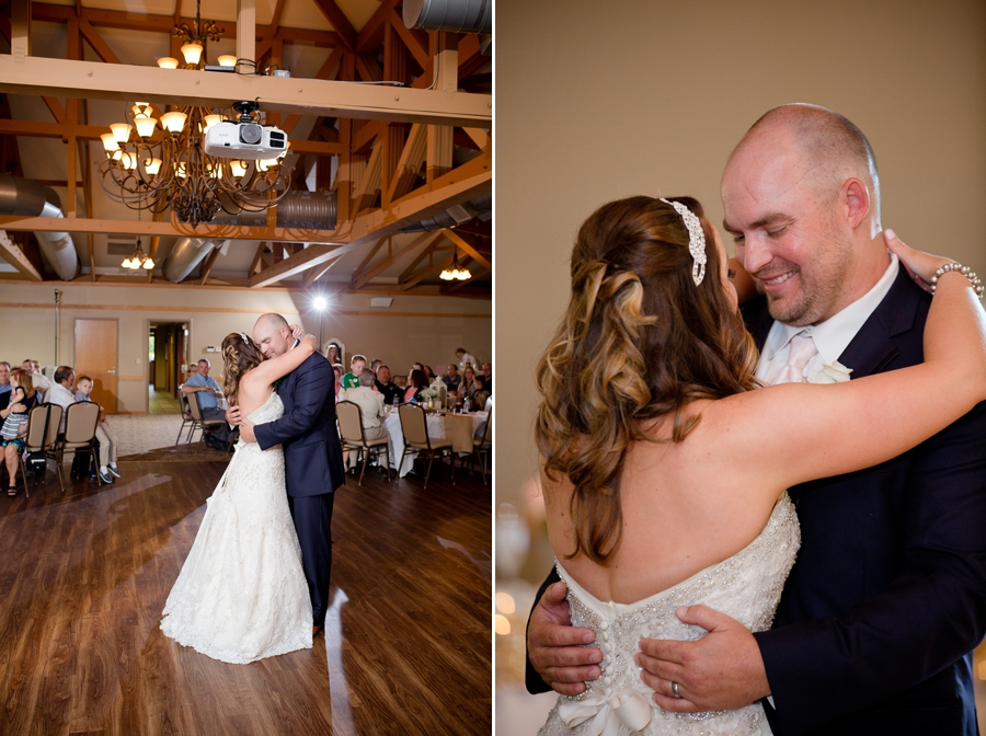 bride and groom first dance wheeling west virginia