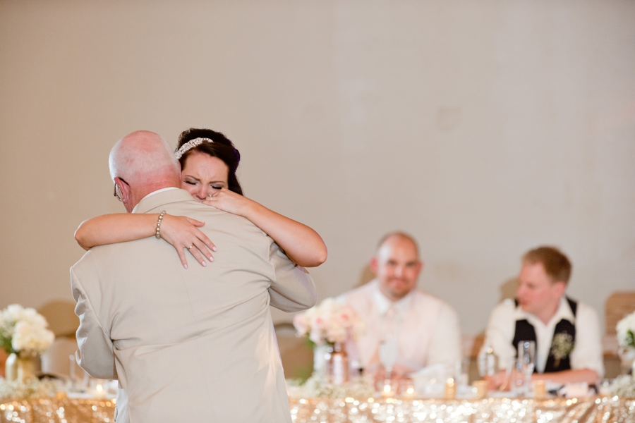 emotional father of bride dance at grand vue park
