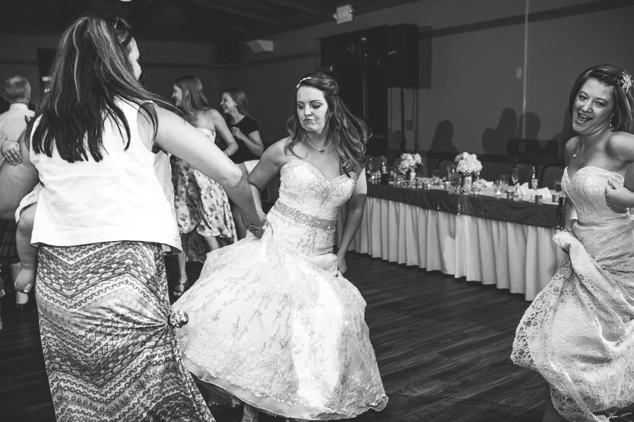 bride dancing at grand vue park wedding