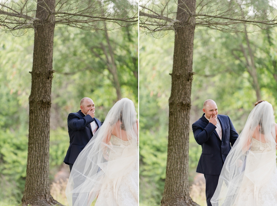 grooms reaction to seeing bride first time
