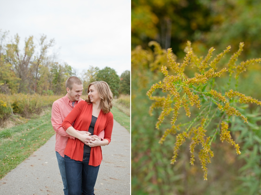 engaged couple at highbanks park
