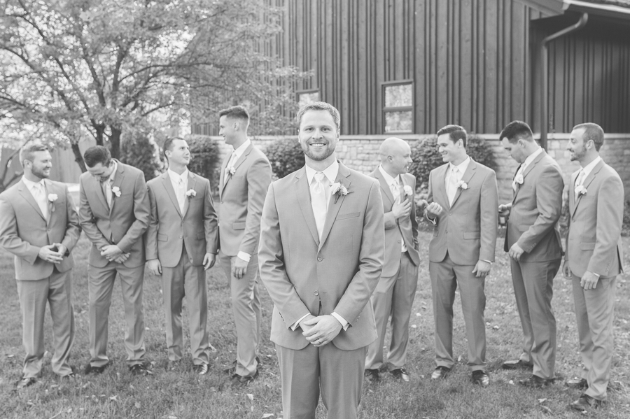groom with groomsmen at the darby house