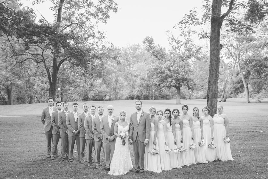 wedding party at the darby house columbus ohio