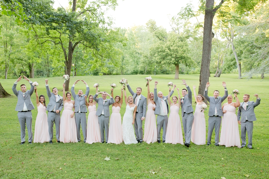 wedding party screaming