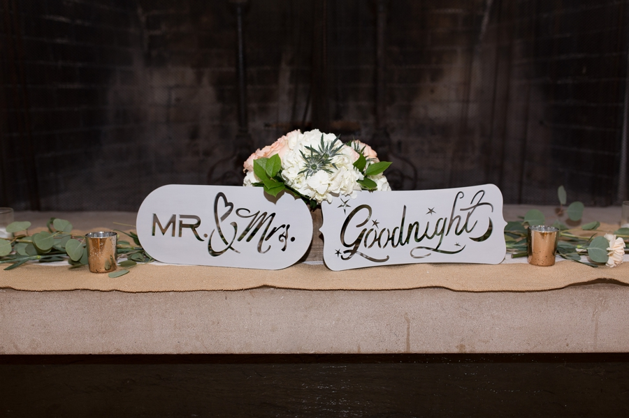 wedding signs at the darby house