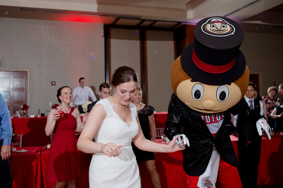 The Blackwell Columbus OH bride dancing with Brutus