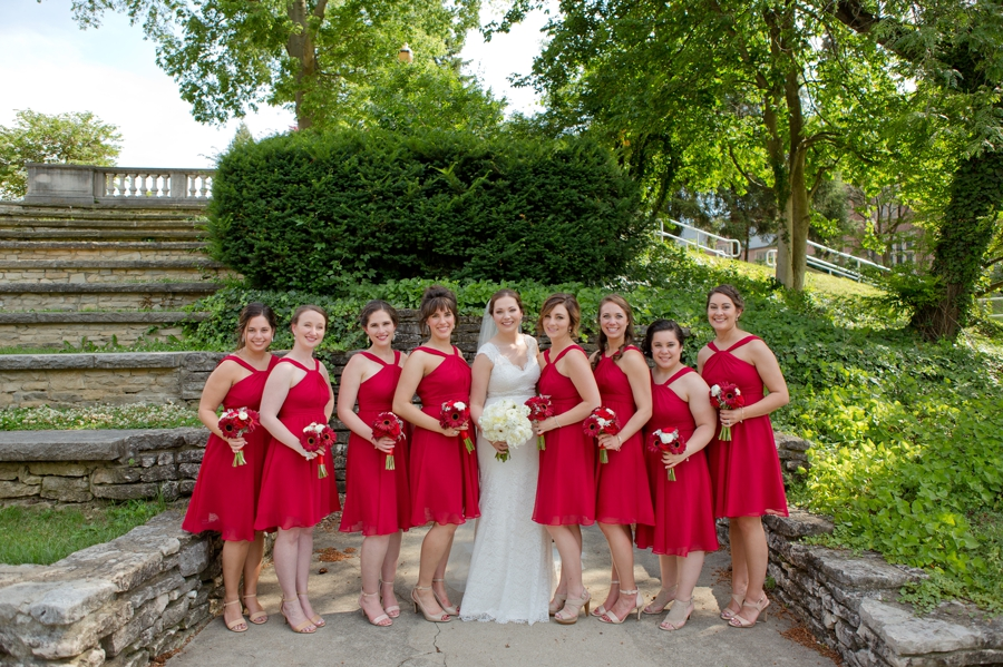 The Blackwell Columbus OH bride with bridesmaids