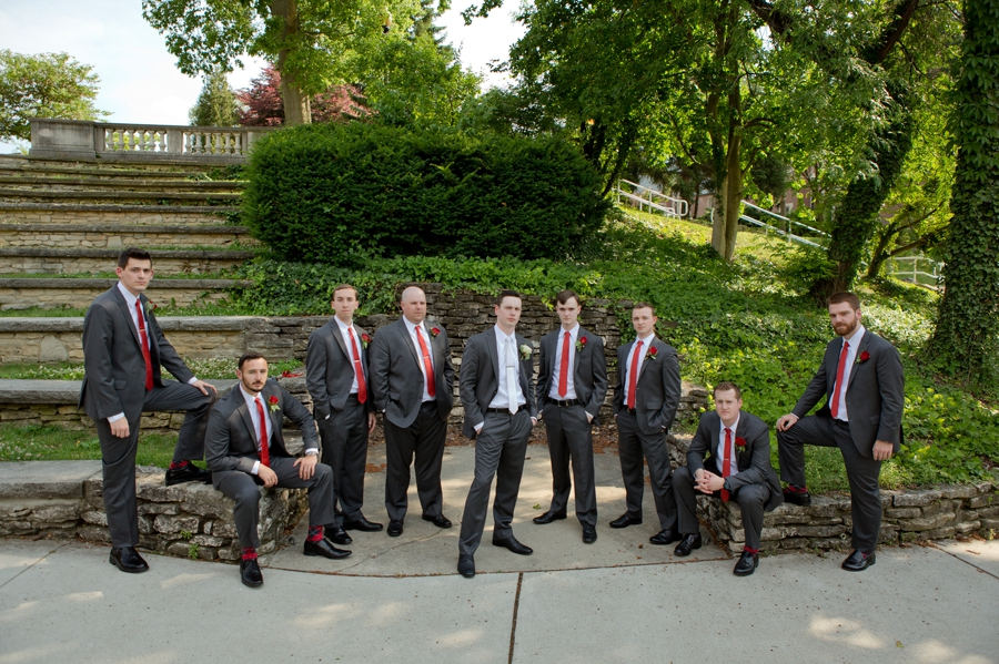 The Blackwell Columbus OH groomsmen and groom