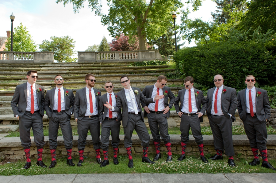 The Blackwell Columbus OH groomsmen argyle socks