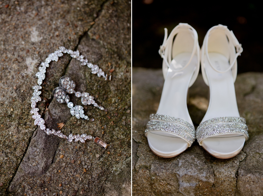 The Blackwell Columbus OH brides shoes and jewelry