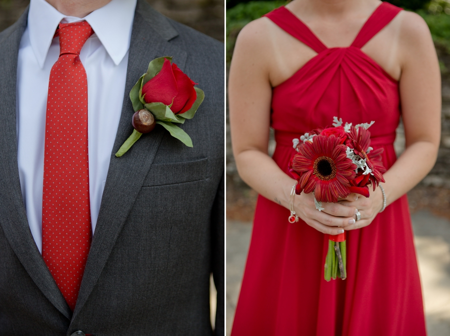 The Blackwell Columbus OH scarlet and gray wedding