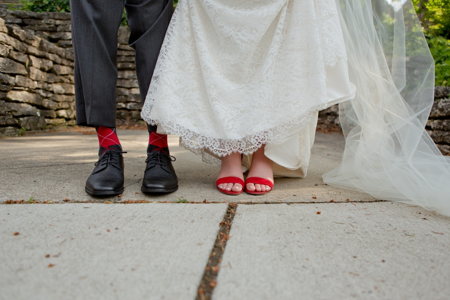 The Blackwell Columbus OH bride and groom shoes